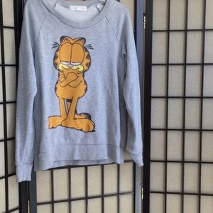 Size small  gray sweatshirt Garfield.